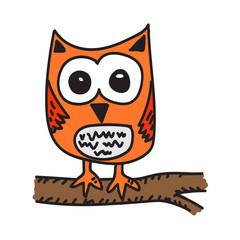 owl cartoon icon