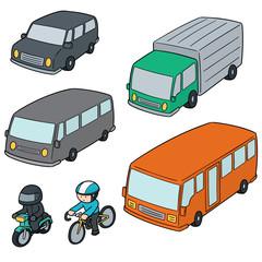 vector set of transportation