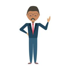 cartoon businessman icon