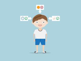 children life style concept cartoon