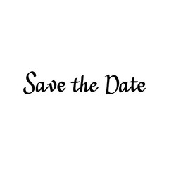 Save the date vector calligraphy digital drawn imitation