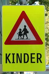"""German Sign """"Children"""", Achtung """"Kinder"""""""