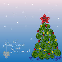 """Greeting card """"Merry Christmas and Happy new year!"""""""
