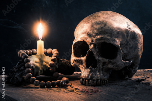 Quot Still Life Photography Human Skull And Light Of Burning