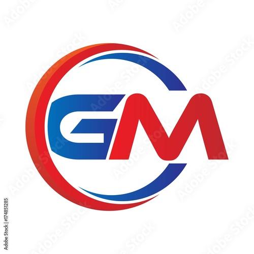 gm logo vector modern initial swoosh circle blue and red stock rh fotolia com gm parts logo vector gm performance parts logo vector