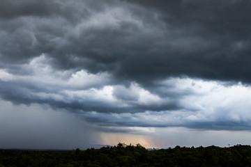 thunder strom sky Rain clouds
