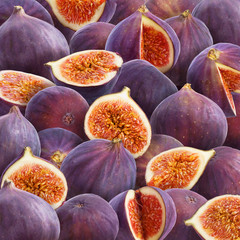 Ripe sweet figs background