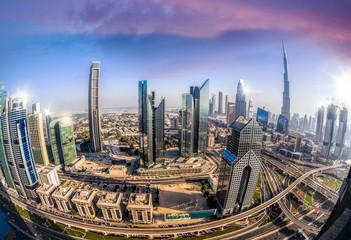Cityscape of Dubai with modern futuristic architecture , United Arab Emirates