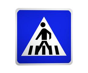 Deutsches Verkehrszeichen: Fußgängerüberweg