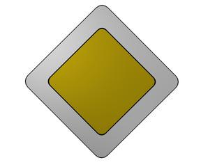 Deutsches Verkehrszeichen: Vorfahrtsstraße