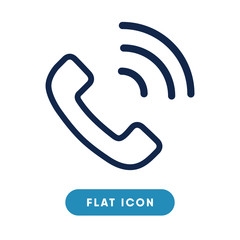 Phone call vector icon, telephone call symbol. Modern, simple flat vector illustration for web site or mobile app