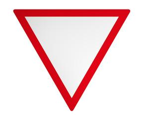 Deutsches Verkehrszeichen: Vorfahrt gewähren