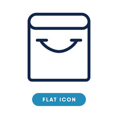 Shopping bag vector icon, paper bag symbol. Modern, simple flat vector illustration for web site or mobile app