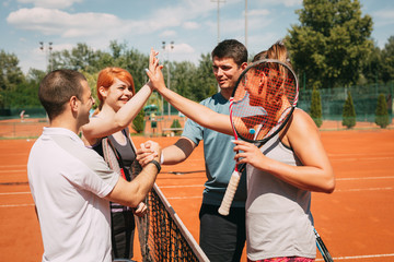 Greeting Before Tennis Match
