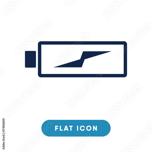 Battery Charging Vector Icon Charge Symbol Modern Simple Flat