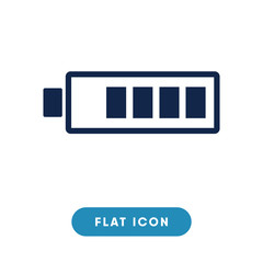 Battery vector icon, battery charging symbol. Modern, simple flat vector illustration for web site or mobile app