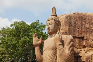 Avukana stone statue of Buddha. Sri Lanka, Kekirawa