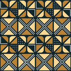 National African ornament with triangular elements