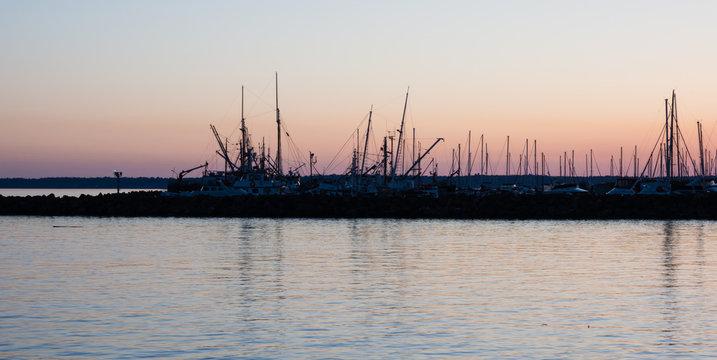 Sunset at Bellingham marina, Washington state, Pacific Northwest