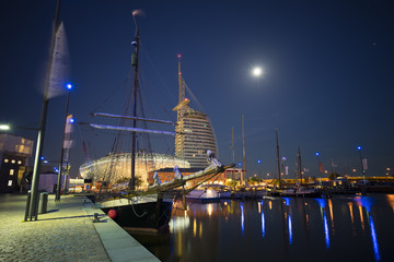 Bremerhaven city at the seaport of the Free Hanseatic City of Bremen