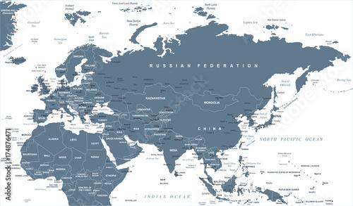 Eurasia Europa Russia China India Indonesia Thailand Africa ...
