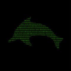 Hacker - 101011010 Icon - Delfin