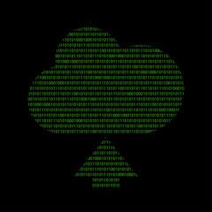 Hacker - 101011010 Icon - Wolke upload