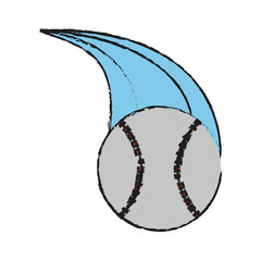 ball baseball related icon image vector illustration design