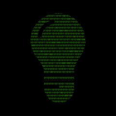 Hacker - 101011010 Icon - Glühbirne - Idee