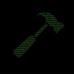 Hacker - 101011010 Icon - Hammer - Reparatur