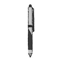retractable pen icon image vector illustration design