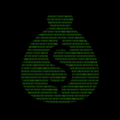Hacker - 101011010 Icon - Geldsack Dollar