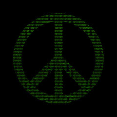 Hacker - 101011010 Icon - Peace Symbol