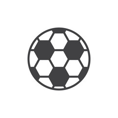 Soccer ball icon vector, filled flat sign, solid pictogram isolated on white. Football symbol, logo illustration.