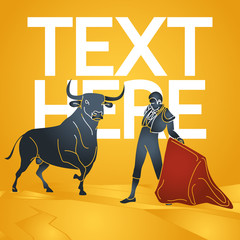 Bull fighting vector icon illustration