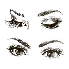 Female eye set