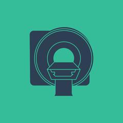 MRI machine icon, Magnetic Resonance Imaging vector symbol