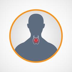Hypothyroidism logo vector icon design illustration