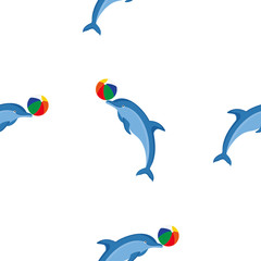 Seamless pattern dolphins