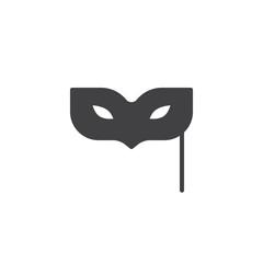 Eye mask icon vector, filled flat sign, solid pictogram isolated on white. Masquerade ball symbol, logo illustration.