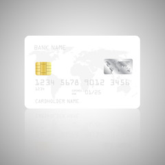 Realistic detailed credit card template