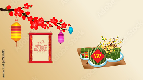 Cooked square glutinous rice cake and blossom wallpapers cooked square glutinous rice cake and blossom wallpapers vietnamese new year translation m4hsunfo
