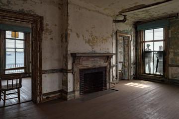 Fotobehang Nepal ellis island abandoned psychiatric hospital interior rooms