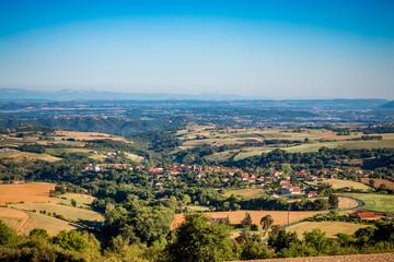Vue sur la vallée du Rhône et le Pilat de la Croix Régie