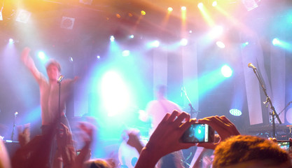 Public having a good time during a concert