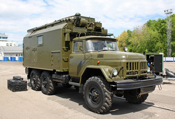 At first soviet and then russian military truck ZIL-131