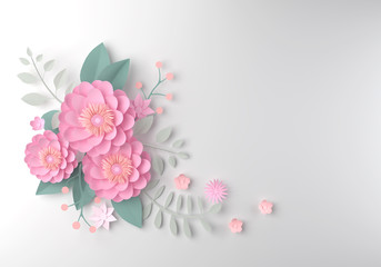 color paper flower wallpaper background, abstract floral background