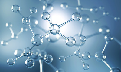 Abstract background of atom or molecule structure, Medical background, 3d illustration.