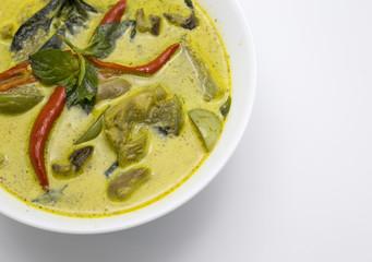 curry green spicy chicken thai food