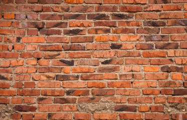 Vintage Red brick wall Background